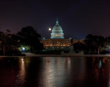US-capital-night-moon-hdr