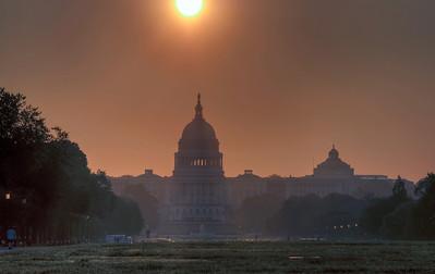 US-capital-sun-glow