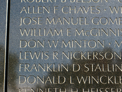 Don Wayne Minton  Corporal D CO, 1ST BN, 3RD MARINES, 3RD MARDIV United States Marine Corps 23 July 1946 - 04 May 1967 Vidor, TX Panel 19E Line 039