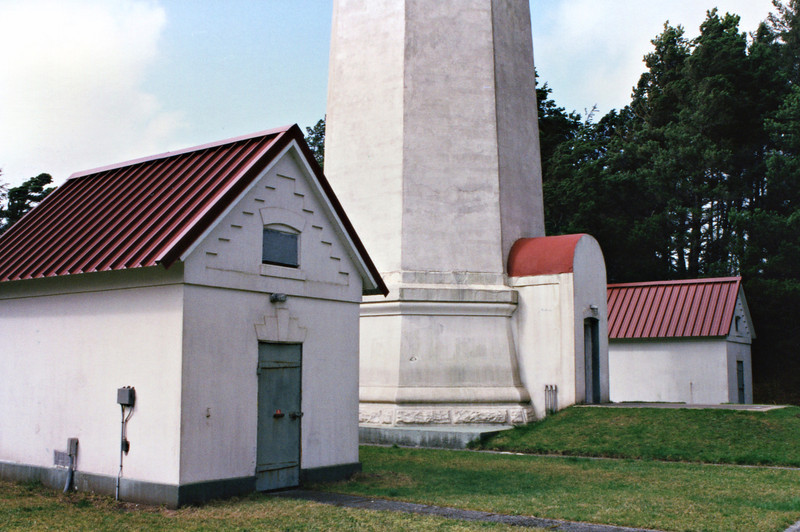 Two oil storage sheds were built at the base of the tower each capable of holding 685 gallons of kerosene.  Two dwellings were erected for the Keepers, one of the principal keeper and a duplex for the assistant keepers.  The dwellings are no longer standing at the site.