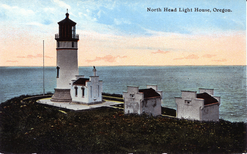 Old postcard view of the North Head Lighthouse