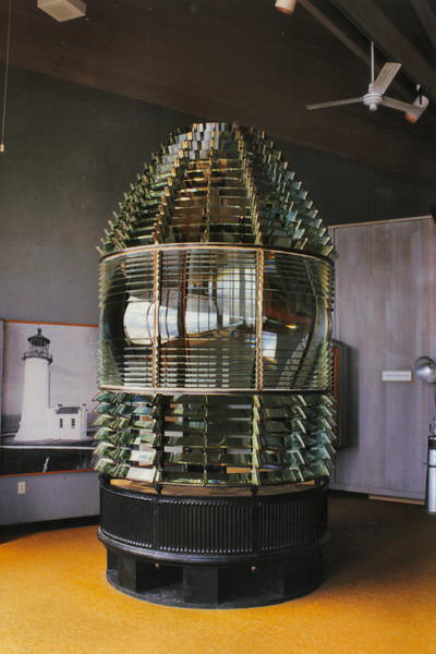 The original First Order Fresnel lens is on display at the Lewis & Clark Interpretative Center. They have displays for both North Head and Cape Disappointment Lights.