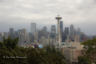 Seattle Space needle as seen from Queen Anne Hill.