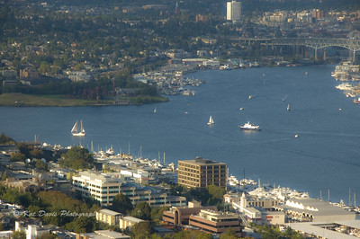 Lake Union from the Seattle Space Needle.