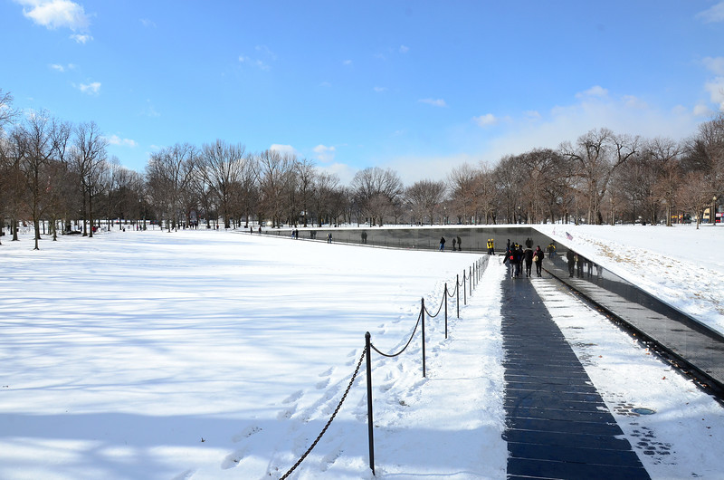 Vietnam Veterans Memorial in winter, January 2014