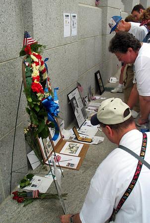 Inaugural weekend, World War II Memorial, Washington, DC, May 30, 2004. Lincoln Memorial