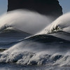 Heavy surf at First Beach, LaPush, Washington, February 2017