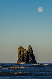 Moonset, LaPush, Washington
