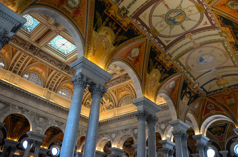 Jefferson Building of the Library of Congress, Washington, DC.