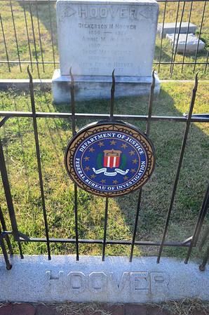 Gravesite of FBI Director J. Edgar Hoover at Congressional Cemetery, Washington DC