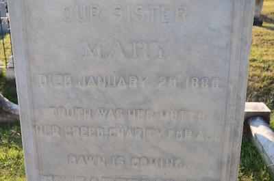 Gravestone for DC madam Mary Hall, at Congressional Cemetery, Washington DC