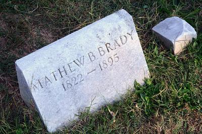 Grave of Civil War photographer Mathew Brady at Congressional Cemetery, Washington DC