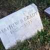 Grave of Civil War photographer Mathew Brady at Congressional Cemetery, Washington DC