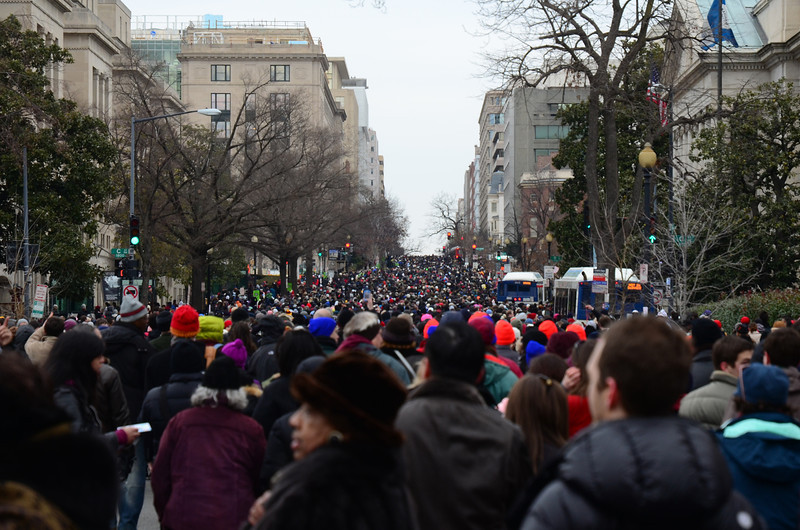 January 21, 1:28. Constitution Ave and 20th Street NW. No cars, man! No cars!
