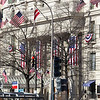 January 19, 12:59PM. Famed Willard's Hotel, one block from the White House, had more flags than the Washington Monument.