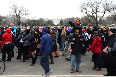 January 21, 12:19. The speech concluded, the crowded headed up Constitution Ave, not bothering with the rest of the Inaugural program.