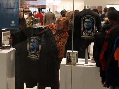 Obamamania in the Smithsonian gift shop.