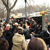 The North side of Constitution avenue was jammed with vendors and shoppers and the occasional TV news crew.