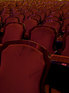 Unique seats of the Lincoln Theater, Washington, DC, July 11, 2008.