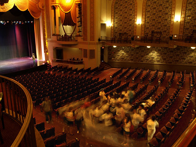 School group tours Lincoln Theater, Washington, DC, July 11, 2008.