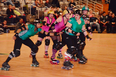 DC RollerGirls league at the DC Armory, Washington, DC, December 8, 2012.