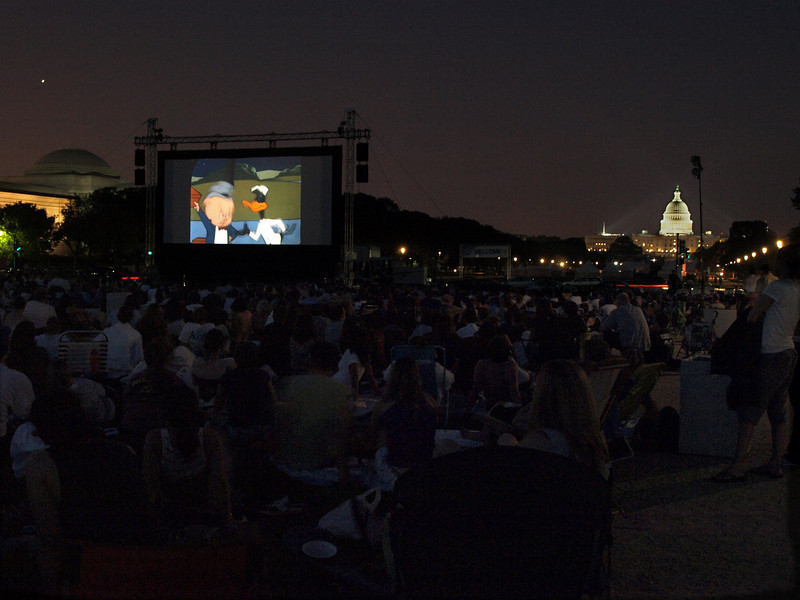 Screen on the Green, National Mall, Washington DC, August 4, 2008.