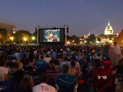 Screen on the Green, National Mall, Washington DC, August 11, 2008.