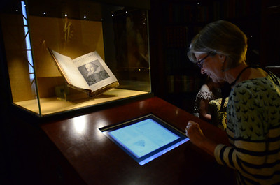 First Folio is displayed with digital images of portions of the book, including the complete text of Romeo and Juliet, at the Folger Shakespeare Library, Washington DC.