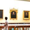 Research room features notable fake or tribute portraits of William Shakespeare at the Folger Shakespeare Library, Washington DC.