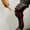 Detail of the Garrick – Hogarth – Shakespeare Chair at the Folger Shakespeare Library, Washington DC.