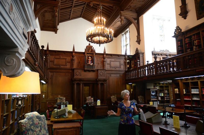 Reading room tour, Folger Shakespeare Library, Washington DC.