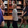 Visitor listen to the docents at the Folger Shakespeare Library, Washington DC.