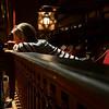 Enjoying the balcony of the theater at the Folger Shakespeare Library, Washington DC.