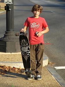 Young skate boarder, Washington, DC. Lincoln Memorial