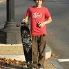 Young skate boarder, Washington, DC. Lincoln Memorial