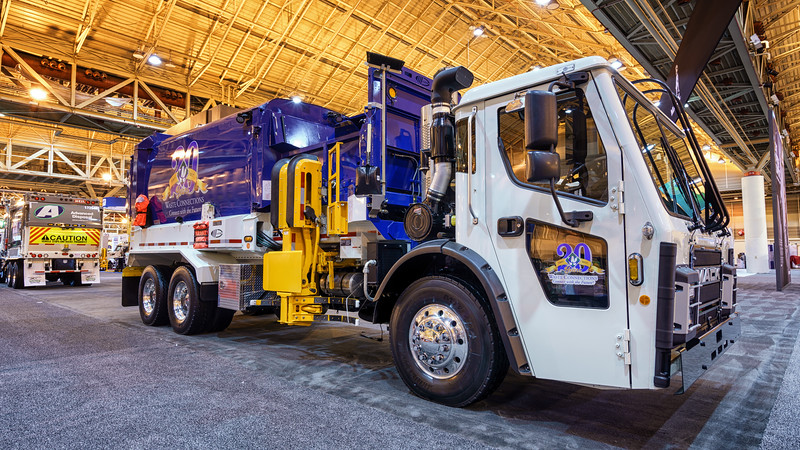 Waste Connections Mack LR Labrie Automizer Side Loader
