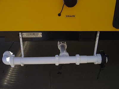 Sink drain in stored position