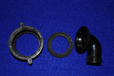 The parts of the standard wastewater adapter.