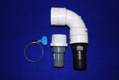 A compete 1 1/2 inch hose adapter.  For a 1 1//4 adaper replace the black hose adapter with the gray 1 1/4 hose and 1 1/2 male to 1 1/4 female PVC adapter