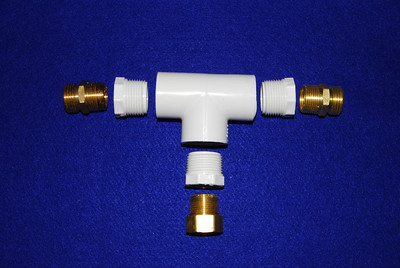 "If you cannot find a unrestricted Y connector you can make one your self.  The parts are: 1. One 1 inch PVC ""T"" with threads 2. Three 1 inch male threaded to 3/4 inch female threaded PVC coupler 3. Two 3/4 inch male to 3/4 hose male brass couplers 4. One 3/4 inch male to 3/4 hose female brass coupler"