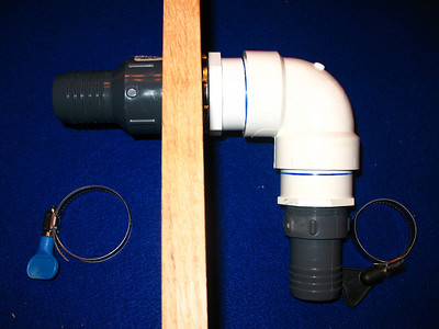 The 1 1/4 inch gray water adapter.