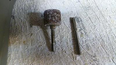 Closeup of the bits