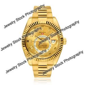 Sky-Dweller Rolex Yellow Gold Watch