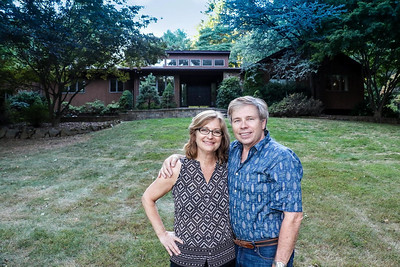 Gwen and Bill, new house, 505 Johnston Drive, Watchung, September 2015