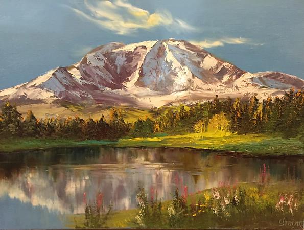 """""""Mountain lake"""" (oil) by Anastasia Strizhkova"""