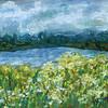 """SUMMER LANDSCAPE"" (oil pastel) by Olesya Sytnyk"