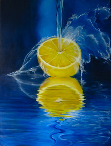 """Splash of Lemon"" (acrylic) by Robin  Harris"