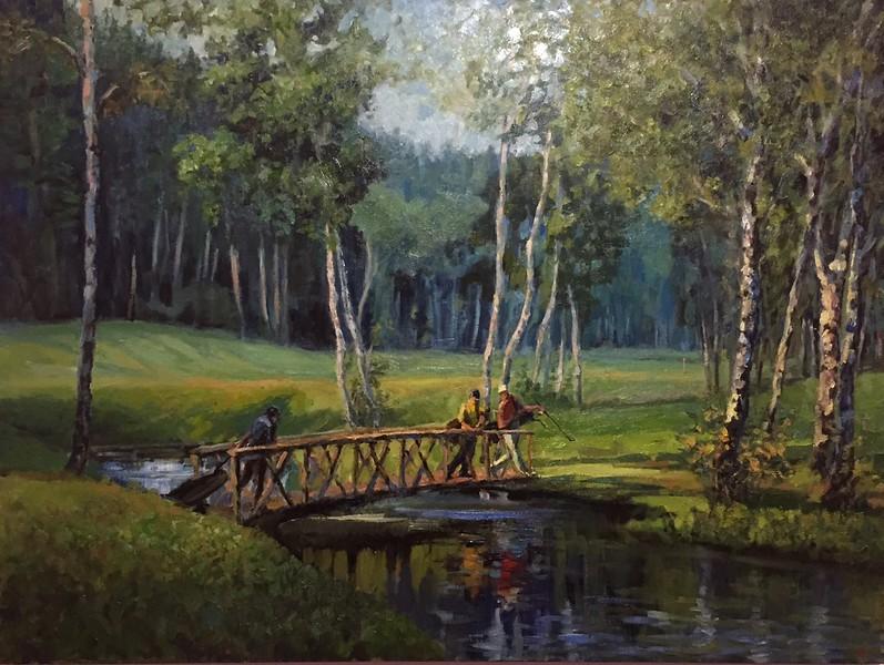"""A path"" (oil on canvas) by Nadya  Milos"