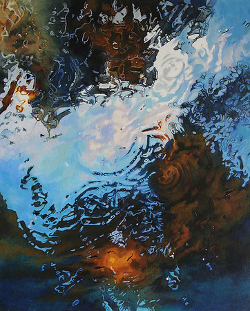 """""""Water Reflection 2"""" (acrylic on canvas) by Candace Knapp"""