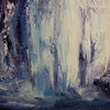 """Roaring waters"" (oil on canvas) by Grethe Angen"